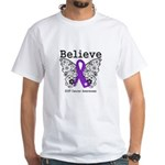 Believe GIST Cancer White T-Shirt