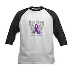 Believe GIST Cancer Kids Baseball Jersey