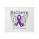 Believe GIST Cancer Throw Blanket