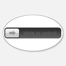 Slide to unlock Sticker (Oval)