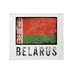Vintage Belarus Throw Blanket