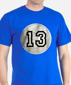 Volleyball Player Number 13 T-Shirt