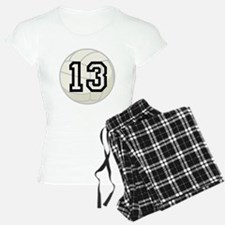 Volleyball Player Number 13 Pajamas