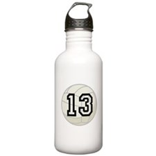 Volleyball Player Number 13 Water Bottle
