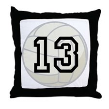 Volleyball Player Number 13 Throw Pillow