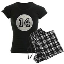 Volleyball Player Number 14 Pajamas