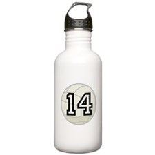 Volleyball Player Number 14 Water Bottle