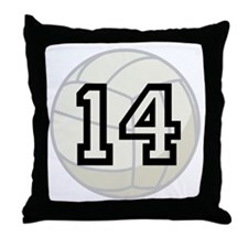 Volleyball Player Number 14 Throw Pillow