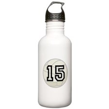 Volleyball Player Number 15 Water Bottle