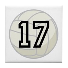 Volleyball Player Number 17 Tile Coaster