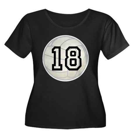 Volleyball Player Number 18 Women's Plus Size Scoo