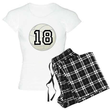 Volleyball Player Number 18 Women's Light Pajamas