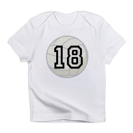 Volleyball Player Number 18 Infant T-Shirt