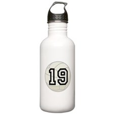 Volleyball Player Number 19 Water Bottle
