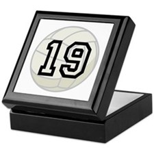 Volleyball Player Number 19 Keepsake Box