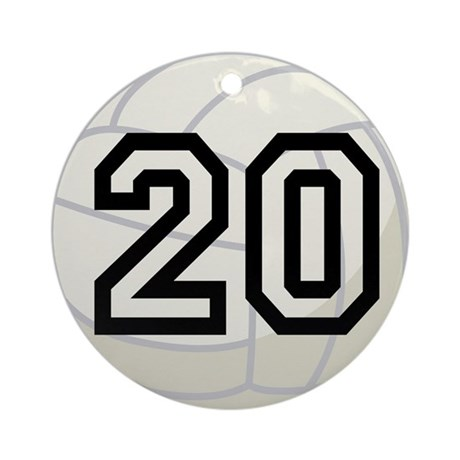 Volleyball Player Number 20 Ornament (Round)
