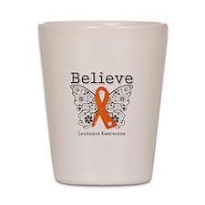 Believe - Leukemia Shot Glass