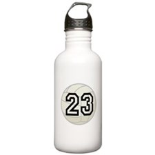 Volleyball Player Number 23 Water Bottle