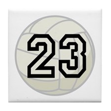 Volleyball Player Number 23 Tile Coaster