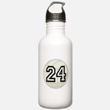 Volleyball Player Number 24 Water Bottle