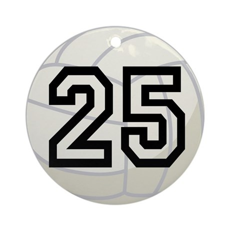 Volleyball Player Number 25 Ornament (Round)