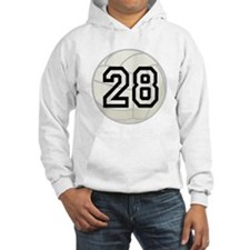 Volleyball Player Number 28 Hoodie