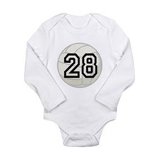 Volleyball Player Number 28 Long Sleeve Infant Bod