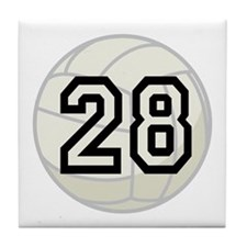 Volleyball Player Number 28 Tile Coaster