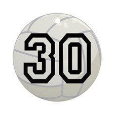 Volleyball Player Number 30 Ornament (Round)
