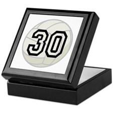 Volleyball Player Number 30 Keepsake Box
