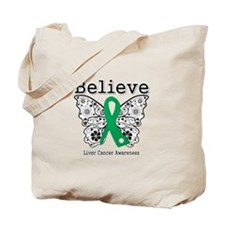 Believe Liver Cancer Tote Bag