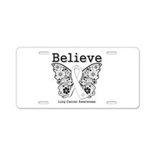 Believe Lung Cancer Aluminum License Plate