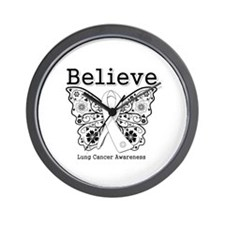 Believe Lung Cancer Wall Clock