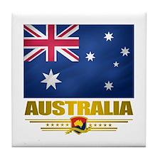 """Australian Pride"" Tile Coaster"