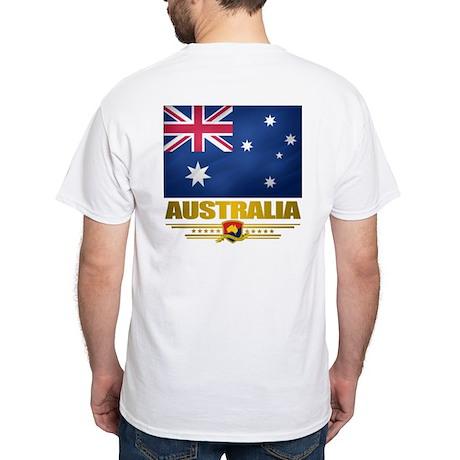 """""""Australian Pride"""" White T-Shirt"""