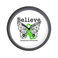 Believe Lymphoma Wall Clock