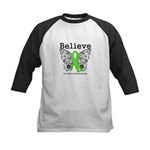 Believe Non-Hodgkins Lymphoma Kids Baseball Jersey