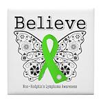 Believe Non-Hodgkins Lymphoma Tile Coaster