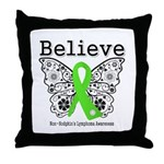 Believe Non-Hodgkins Lymphoma Throw Pillow
