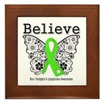 Believe Non-Hodgkins Lymphoma Framed Tile