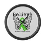 Believe Non-Hodgkins Lymphoma Large Wall Clock