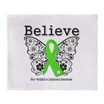 Believe Non-Hodgkins Lymphoma Throw Blanket