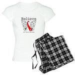 Believe Oral Cancer Women's Light Pajamas