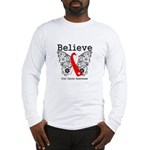 Believe Oral Cancer Long Sleeve T-Shirt
