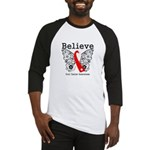 Believe Oral Cancer Baseball Jersey