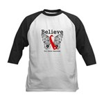 Believe Oral Cancer Kids Baseball Jersey