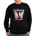 Believe Oral Cancer Sweatshirt (dark)
