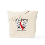 Believe Oral Cancer Tote Bag