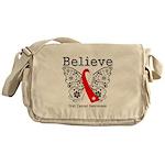Believe Oral Cancer Messenger Bag