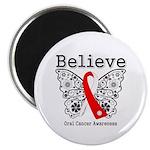 Believe Oral Cancer Magnet